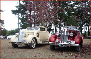 Jul/Aug 2010 Two Fine Packard 120 Convertible Coupes at Wedding